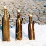 Flaschen, Lehmglasur